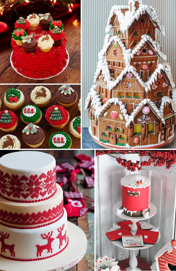 Classic Christmas Wedding Cake Inspiration | Confetti.co.uk