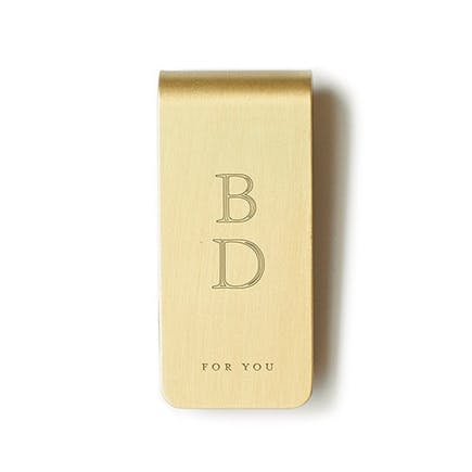 For You Brass Money Clip | Confetti.co.uk