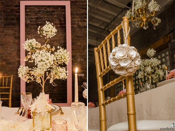 Pink and Gold Wedding Decor | Confetti.co.uk
