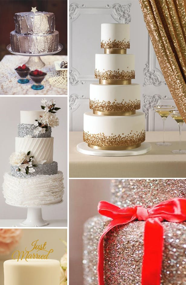 Seasonal Sparkle Christmas Cake Inspiration | Confetti.co.uk