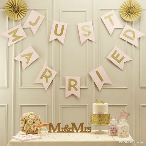 Just Married flag bunting | Confetti.co.uk