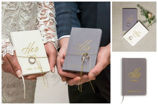 His and Hers vows pocket notebook journal | Confetti.co.uk