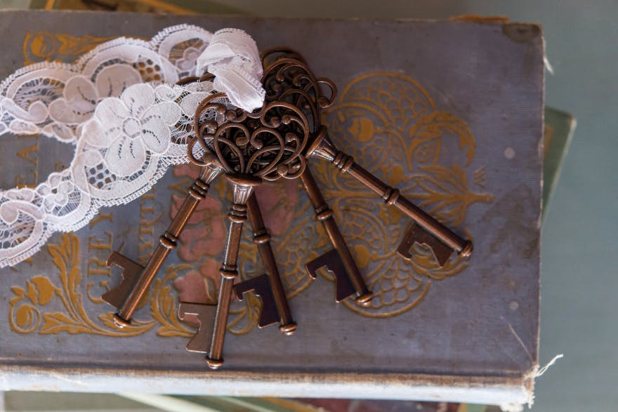 Vintage Key Bottle Opener With Bronze Finish - Bronze Key Bottle Openers Wedding Favours | Confetti.co.uk