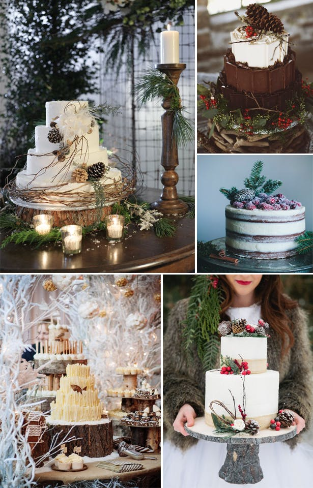 Winter Woodland Wedding Cake Inspiration | Confetti.co.uk