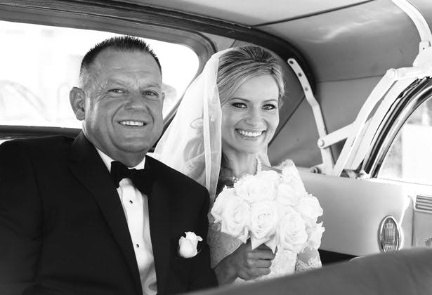 Bride and her father on the way to the ceremony | Confetti.co.uk
