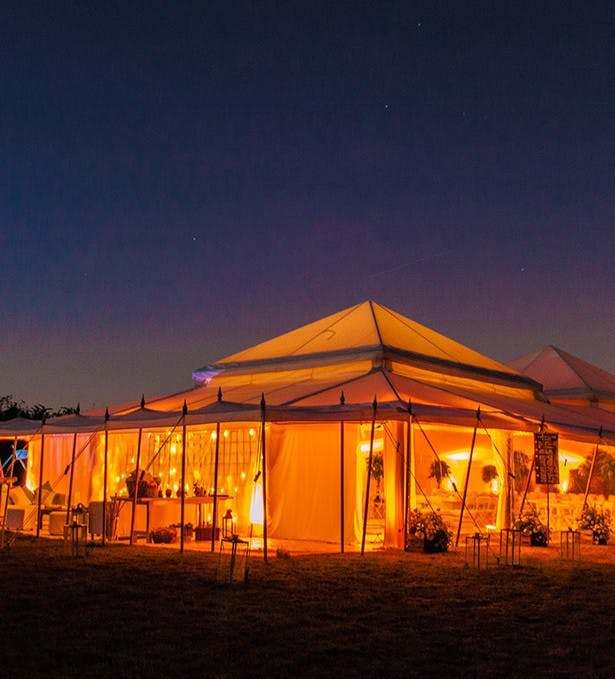 Have your wedding in the stunning, ambient settings of a tent. From The Pearl Tent Company | Confetti.co.uk