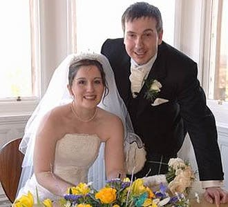 Claire and Gavins real wedding story