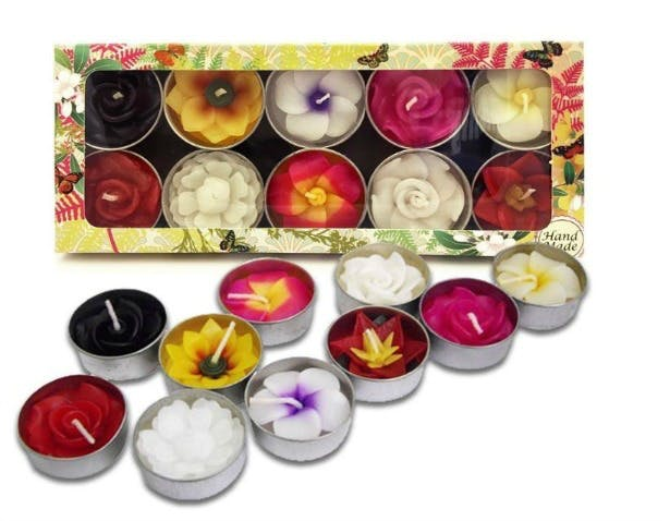 Alternative favours mini flower tealights | Confetti.co.uk