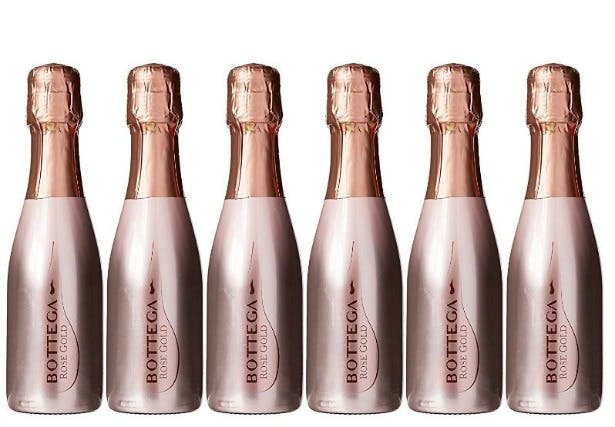 Alternative favours mini rose gold Bottega Prosecco | Confetti.co.uk