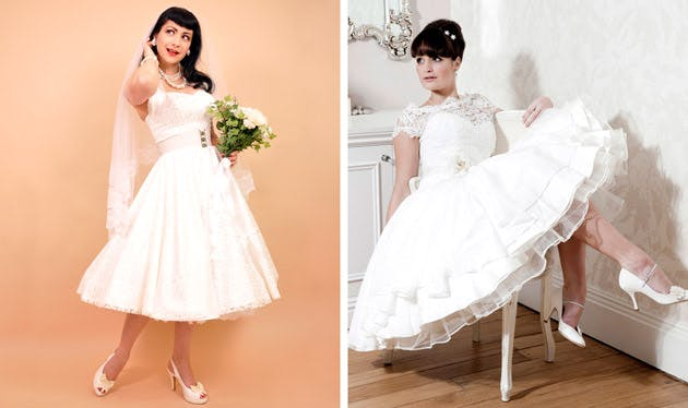 50s Tea Length Wedding Dresses