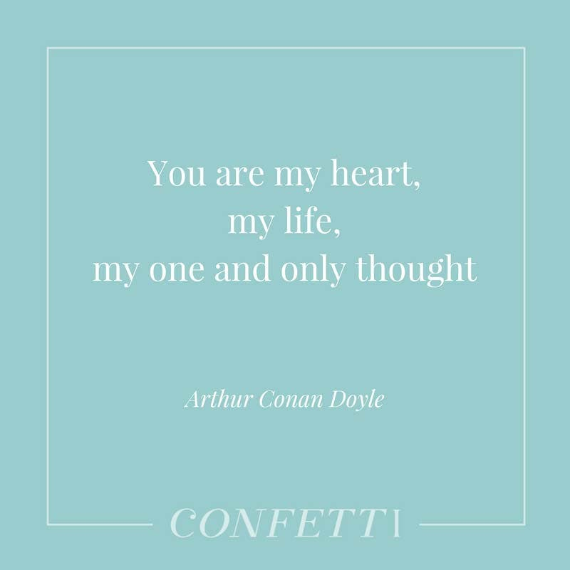Quote about love from Arthur Conan Doyle