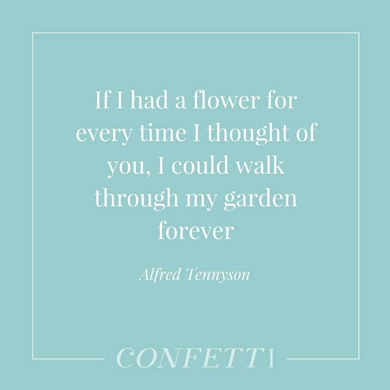 Alfred Tennyson love as a garden quote