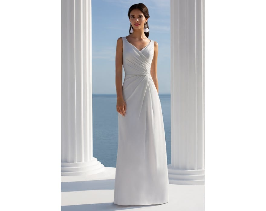 Mark Lesley bridesmaid dress in white