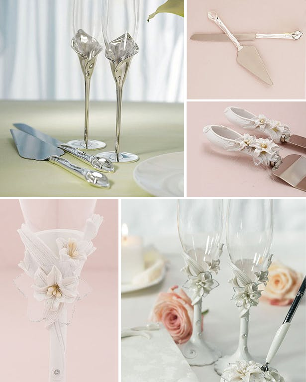Cake Serving Sets and Toasting Flutes