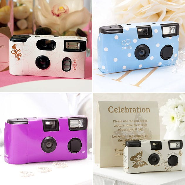 Disposable Camera Wedding Idea: Photo Booth Fun, Props And Backdrops