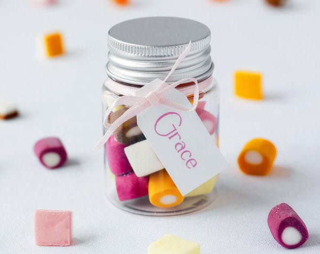 Dolly Mixture Favour Jar