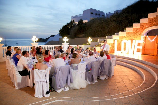 Wedding breakfast outside by Ibiza Wedding Shop | Confetti.co.uk