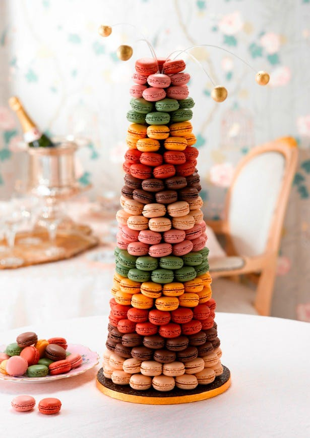 Macaroon tower by Maison Blanc | Confetti.co.uk