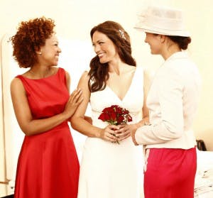 Bride, Maid of Honour, Mother of the Bride