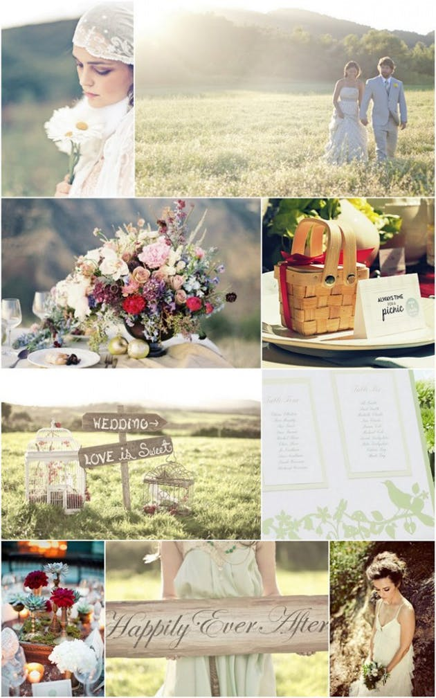 Confetti Garden Wedding Theme