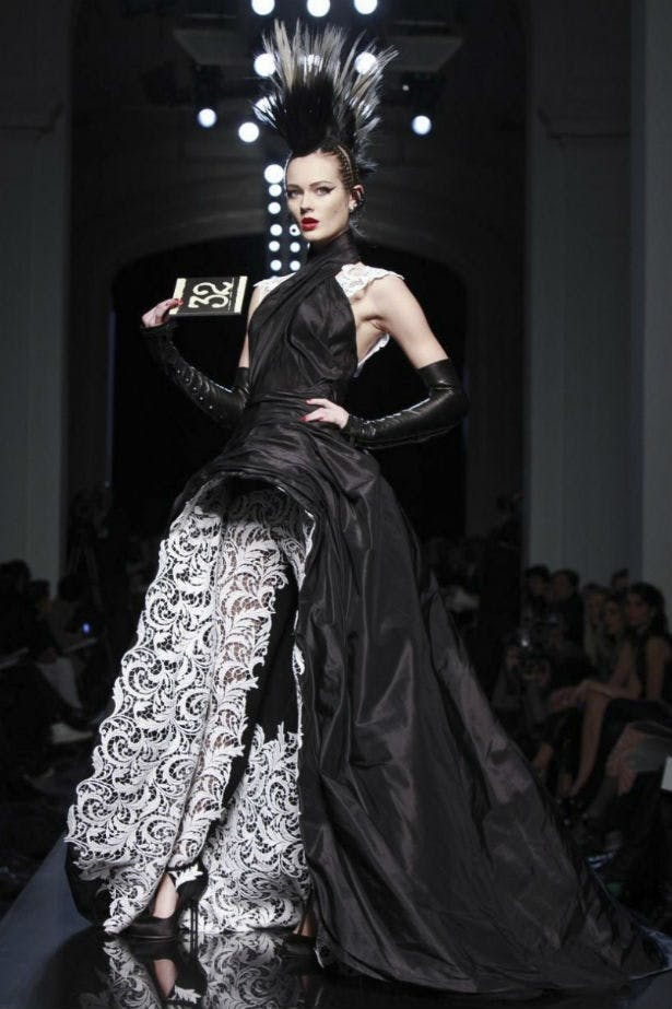 Gothic black designer wedding dress by Jean-Paul Gaultier.jpg