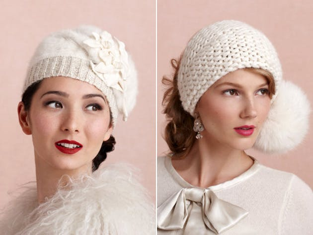 winter bridal hat