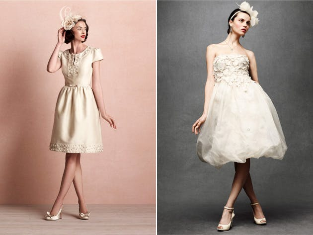 Whirlwind and Floral Artwork Bridal Gowns by BHLDN