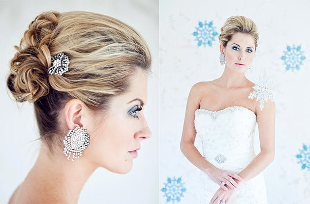 winter bride jewellery hair accessories