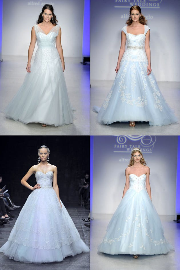 Blue Wedding Gowns Fall 2013