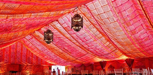 Bombay Boudoir Marquee Lining from Complete Chillout Company | Confetti.co.uk
