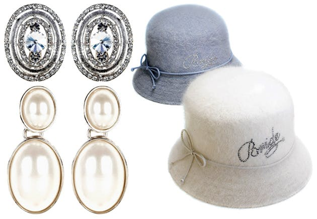 Earrings by Coast, hats by Confetti