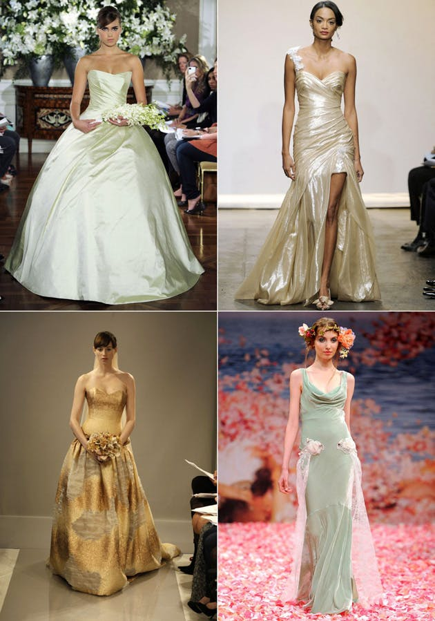 Coloured Wedding Gowns Fall 2013