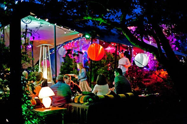 Lanterns and fairy lights for marquees by Complete Chillout Company