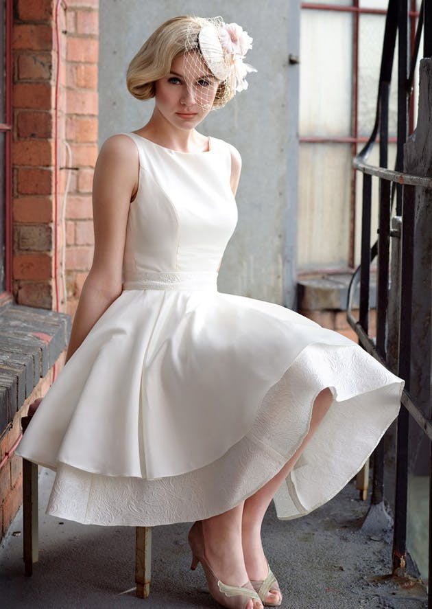 Tea Length Retro 1950s Wedding Dresses Confetti
