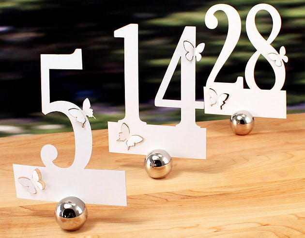 Ivory Wedding Table Numbers