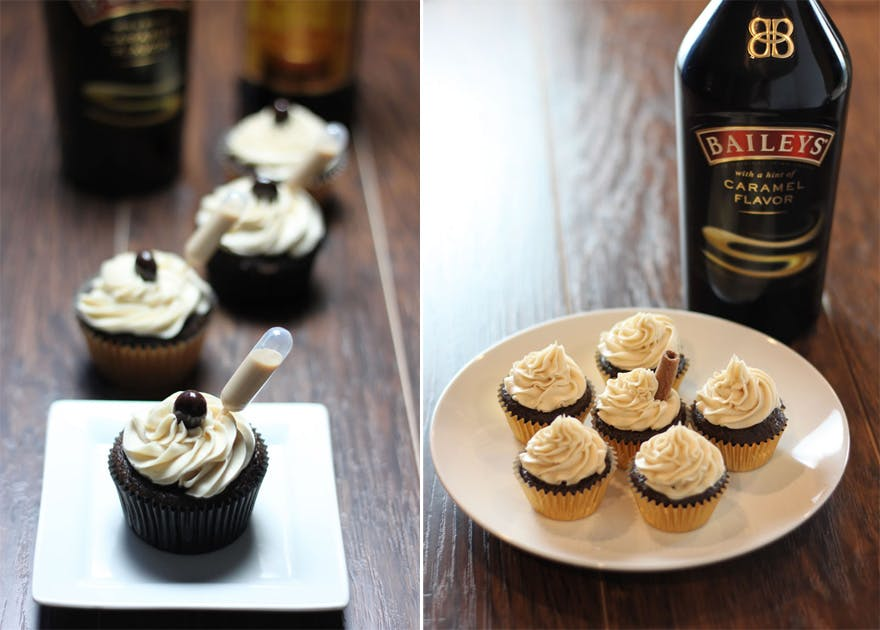 Alcoholic Cupcakes - Caramel Baileys Cupcakes Alcohol Infused Cupcakes by Baking Smarter - Mini Baileys Cupcakes - Alcoholic Chocolate Cupcakes - Chocolate Wedding Favours   Confetti.co.uk