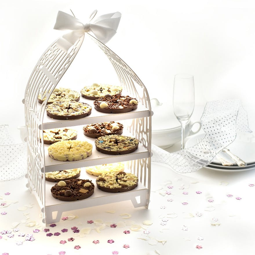 Mini Chocolate Pizzas from The Gourmet Chocolate Pizza Co - Unique Wedding Favour Ideas - Chocolate Wedding Favours | Confetti.co.uk
