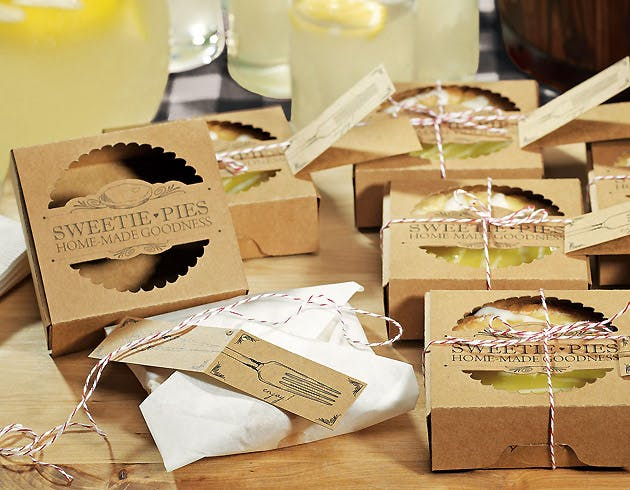 Mini sweet pies packaging kits | Confetti.co.uk