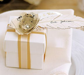 Laser Cut Feather Tag For Wedding Favours or Place Cards