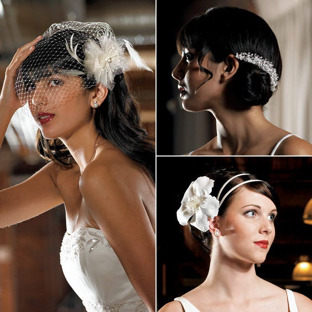 Vintage Style Bridal Veils and Hair Accessories