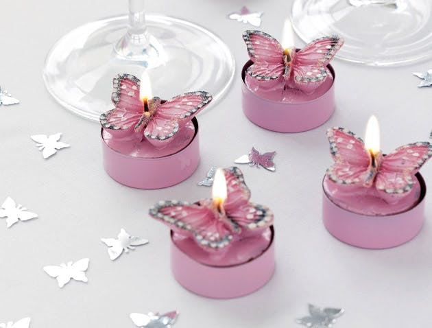 Pink Butterfly Tealights Pack