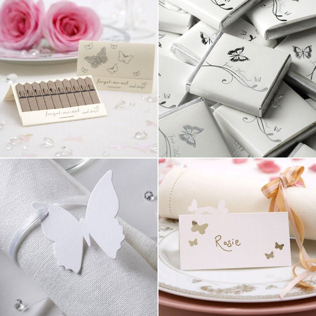 Forget Me Not Seeds Chocolates Place Cards
