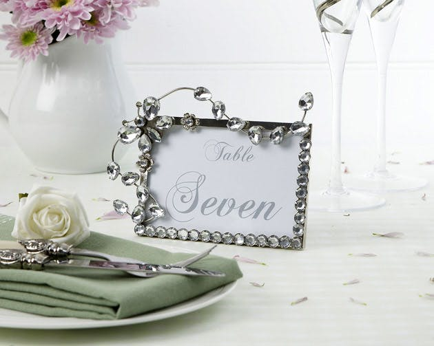 Jewelled Butterfly Frame Table Number Place Card