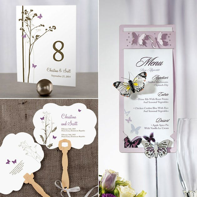 Erfly Fans Stationery Holders Table Numbers