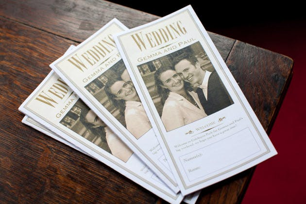 Wedding Welcome Booklet