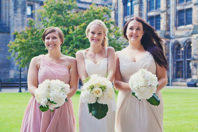 Bride and Bridesmaids at Lauren and Ian's Real Wedding | Confetti.co.uk