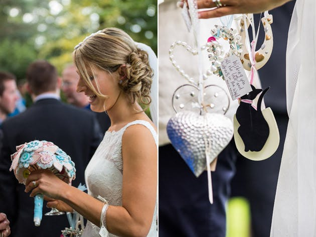 Bride with Bouquet Charms