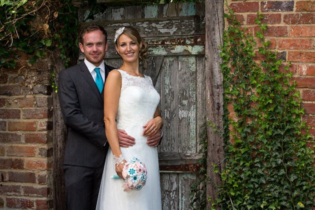 Bride and Groom Posing at Dodmoor House
