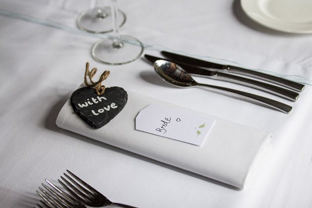 Bride's Heart Place Card