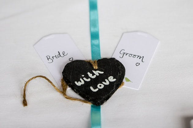 Bride and Groom With Love Heart